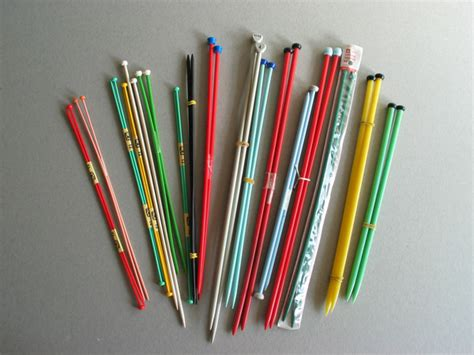 Vintage Plastic Knitting Needles