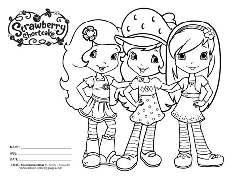 Strawberry Shortcake Coloring Pages Strawberry Shortcake Coloring Pages To Print