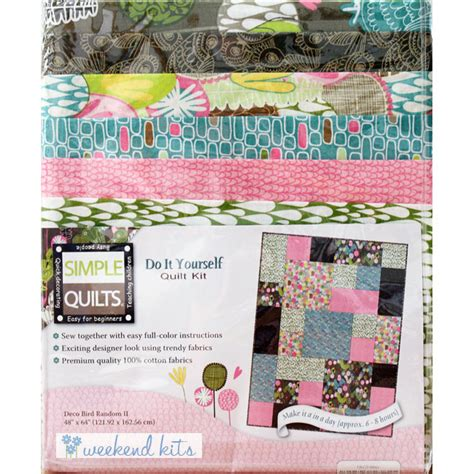 Beginners Quilting Kits by Weekend Kits Quilt Kits Simple Quilting Patterns