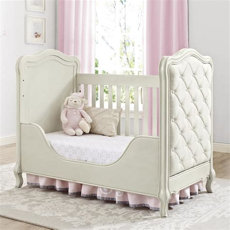 upholstered toddler bed bertini baby tinsley toddler guard rail