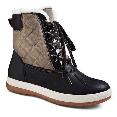 target womans boots s duck boot black merona target