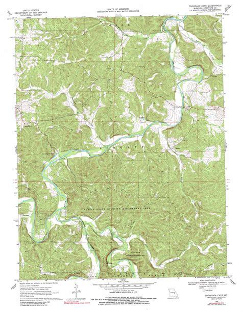 missouri caves map onondaga cave topographic map mo usgs topo 38091a2