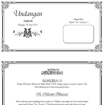 template undangan blangko contoh undangan akikahan cake ideas and designs