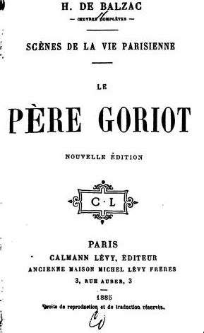 Le père Goriot - French reading comprehension