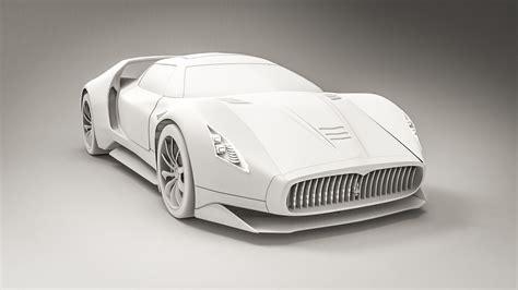 maserati hypercar maserati concept hypercar 3d model obj fbx cgtrader com