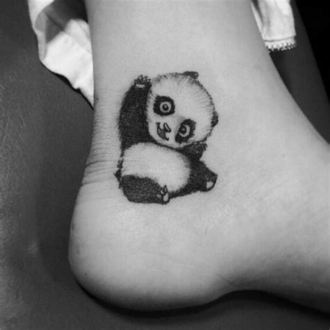 panda ankle tattoo 45 beautiful ankle tattoos and their meanings you may love
