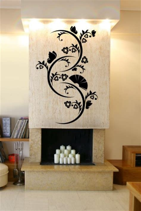 feature wall stickers enchanted nature inspired wall decor inviting feature wall