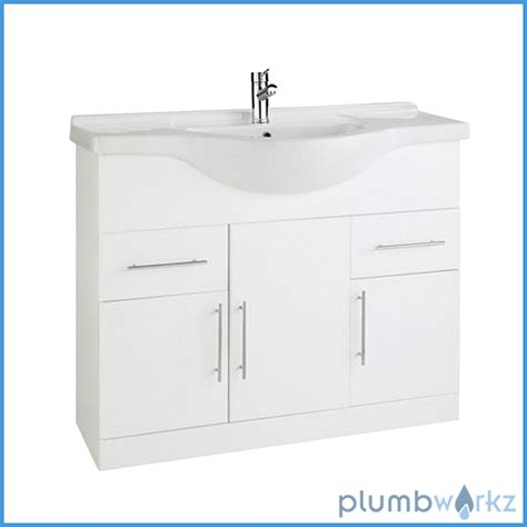 bathroom cloakroom vanity storage furniture units gloss white bathroom vanity white gloss unit basin sink cabinet storage modern cloakroom ebay