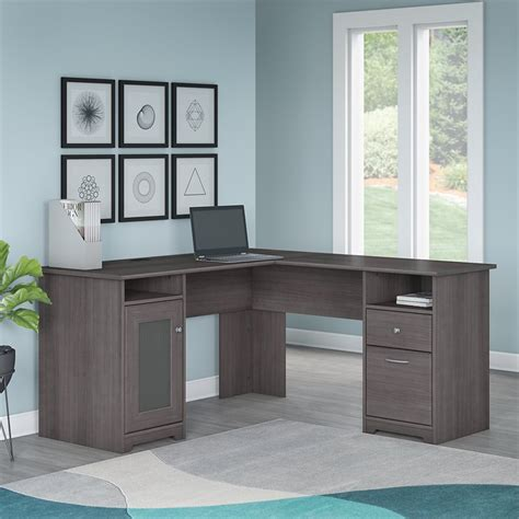 Bush Cabot 60 Quot L Shape Desk In Gray Wc31730 03k