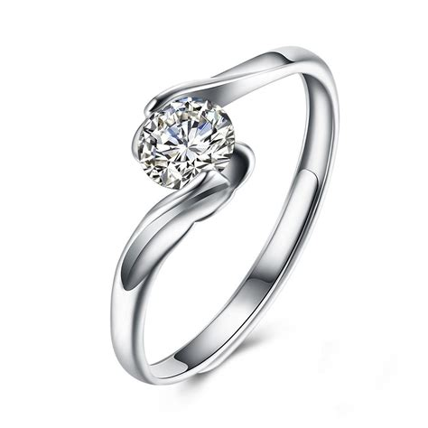 S925 Silver Ring cut white sapphire s925 silver engagement rings