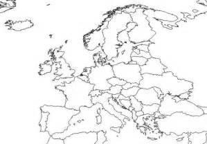 Europe Map Outline by Blank Map Of Europe Geography