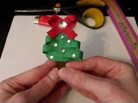 how to make a christmas tree out of dollar bills how to make a tree out of ribbon tutorial by just add a bow