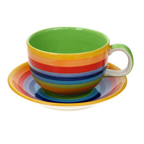 Rainbow Cup rainbow cup and saucer large