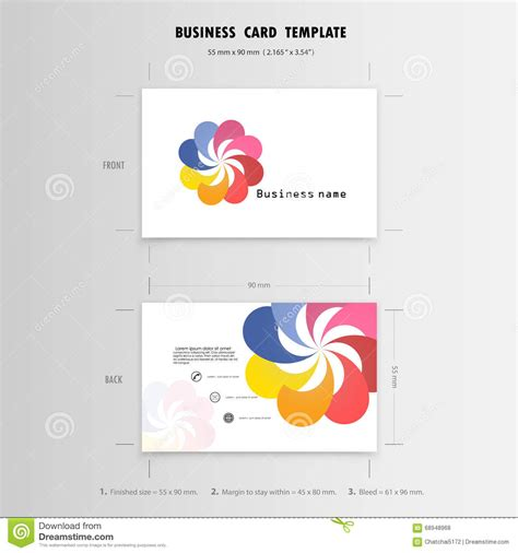 abstract creative business cards design template name