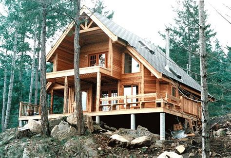 lakefront home plans 3 contemporary cabin house