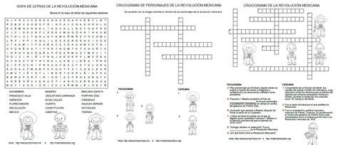 preguntas de cultura general faciles mexico sopa de letras y crucigramas de la revoluci 243 n mexicana