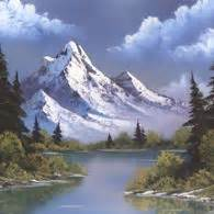 bob ross painting water reflections best 25 mountain paintings ideas on