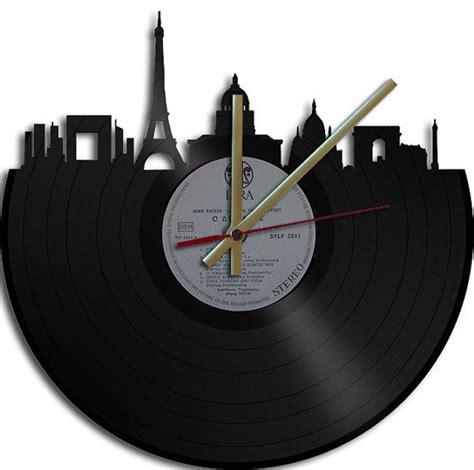 themes of clock paris theme vinyl record clock by vinyl clock art