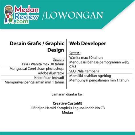design career indonesia creative custome lowongan graphic design dan web