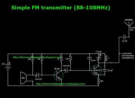 simple transistor fm transmitter transmitter circuit page 10 rf circuits next gr