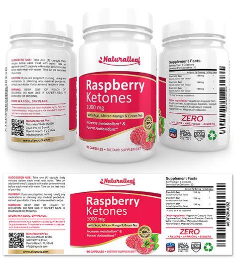 supplement ketones raspberry ketones supplement label template