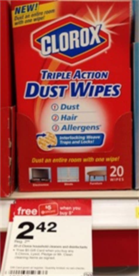 target clorox triple action dust wipes     target