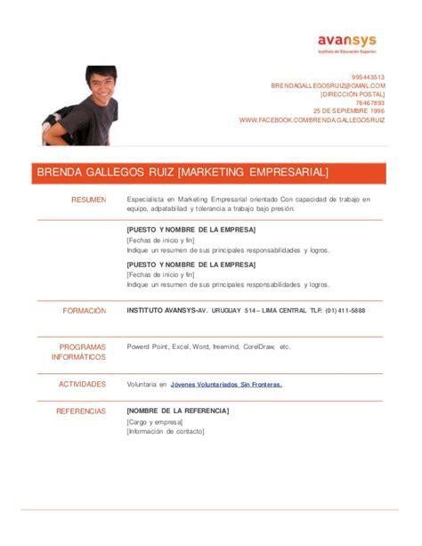 Modelo De Curriculum 2014 España Modelo De Curriculum Vitae Uruguay Modelo De Curriculum Vitae