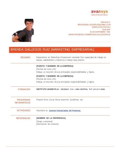 Modelo Curriculum Vitae Peru Pdf Modelo De Curriculum Vitae Uruguay Modelo De Curriculum Vitae