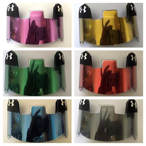 colored visors youth armour visors with shoc colored inserts