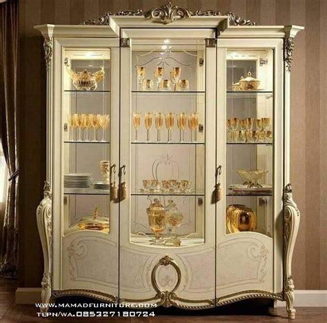Gold Lemari Tv Hias almari hias pajangan ukiran mewah mamad furniture jepara