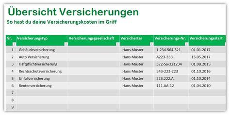 Autoversicherung Liste by 220 Bersicht Versicherungen So Senkst Du Deine