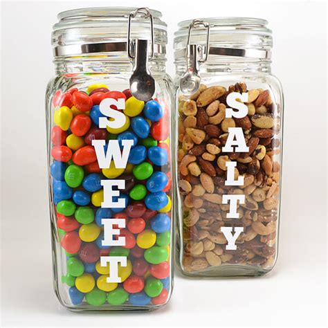 Autumn Home Decor Cravings Snack Canisters For Sweet And Salty Snacking
