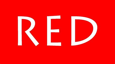 red is the color of the day children s song red colors learn basic colours red kids video youtube