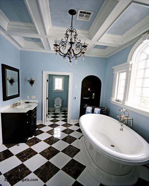 gray and blue bathroom architecture habanasalameda