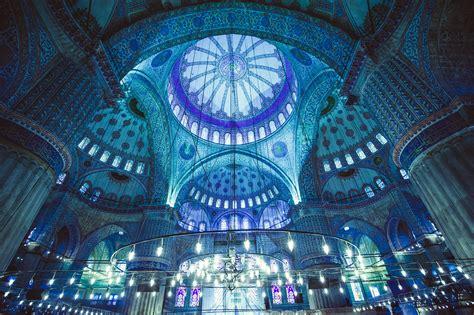 wallpaper biru masjid istanbul inspiration