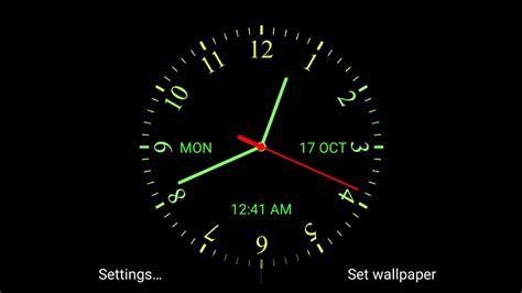 analog clock  wallpaper apk