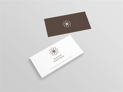 Business Card Mockup Template Psd by Perspective Business Card Mockup Psd