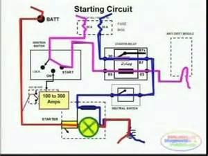 starting system amp wiring diagram youtube