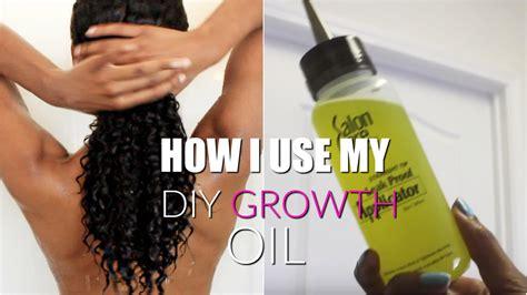 what kind of oil do boys use to sponge their hair how i use my diy growth oil on my natural hair all hair