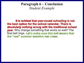 Conclusion Paragraph Template by Persuasive Essay Sle