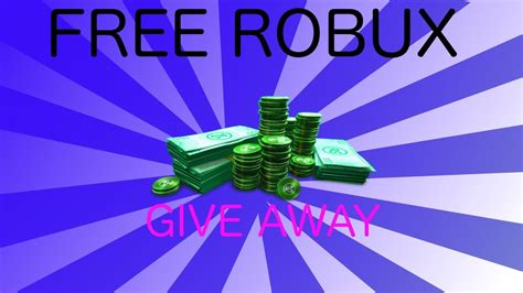 Roblox Robux Giveaway - free robux roblox give away youtube