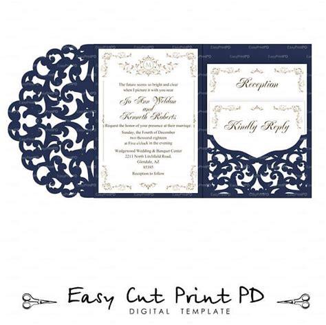 tri fold card cricut template set of tri fold pocket envelope 5x7 wedding invitation svg