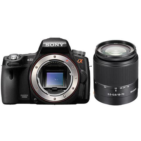 Kamera Sony Slt A33 sony alpha slt a33 digital with 18 70mm f 3 5 5 6 d b h