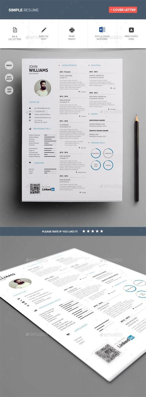 Simple Resume Template Vol 7 by 17 Best Ideas About Simple Resume Template On