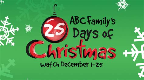 abc family abc family s complete 25 days of schedule screener