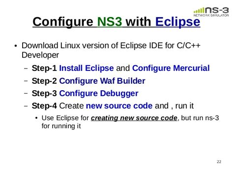 Ns3 Eclipse Tutorial | 1 session installation