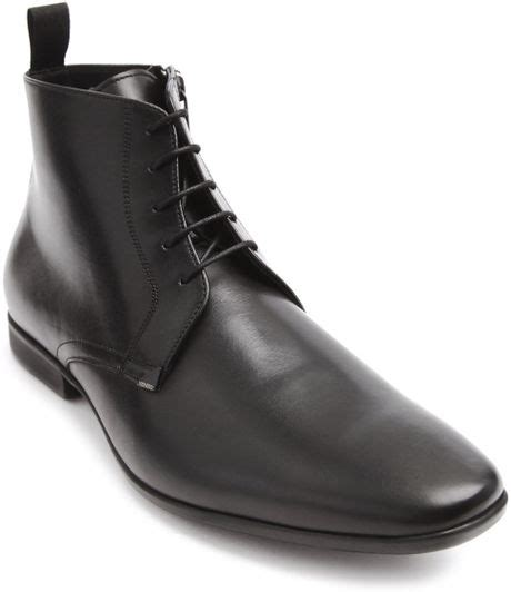 kenzo mens boots kenzo werner black laced and zipped boots in black for