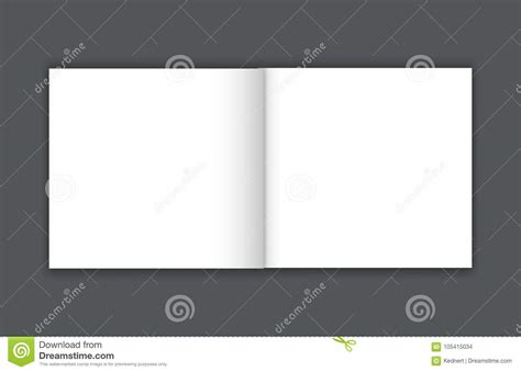 blank bi fold card template blank bi fold brochure mockup cover template stock vector