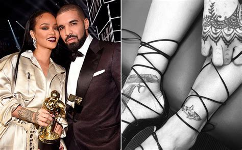 drake rihanna tattoo rihanna gets inspired shark rap up