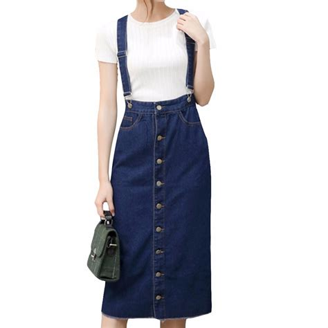 Suspender Denim Skirt popular denim skirt with suspenders buy cheap denim skirt